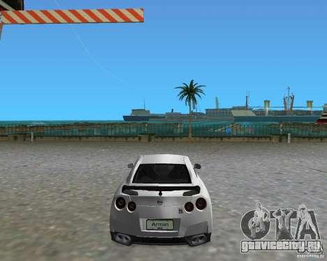 Nissan GT R35 Vspec для GTA Vice City вид слева
