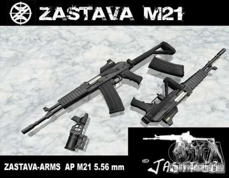 Zastava Arms M21 Final для GTA San Andreas