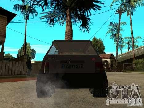 Kia Pride для GTA San Andreas вид сзади слева