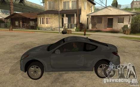 Hyundai Genesis Coupe 2010 для GTA San Andreas вид слева