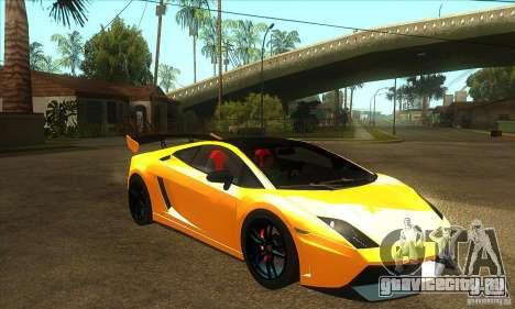 Lamborghini Gallardo LP570 Super Trofeo Stradale для GTA San Andreas вид сзади