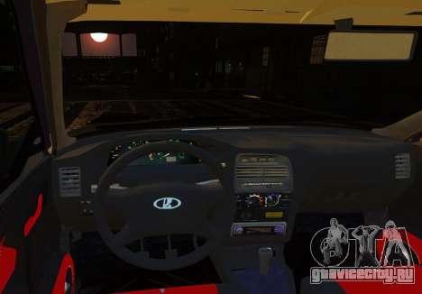 ВАЗ 2112 Купе для GTA 4 вид изнутри