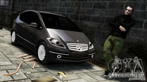 Mercedes Benz A200 Turbo 2009 для GTA 4 вид справа