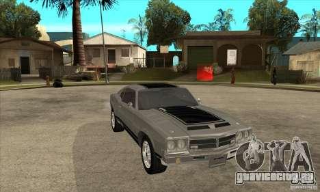 Sabre из GTA 4 для GTA San Andreas вид сзади