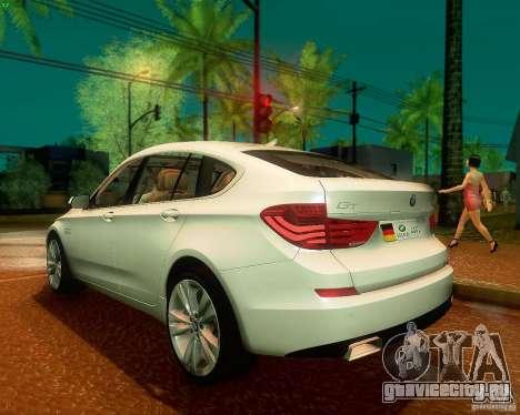 BMW 550i GranTurismo 2009 V1.0 для GTA San Andreas вид справа