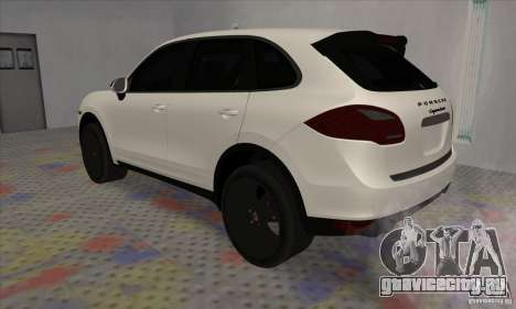 Porsche Cayenne Turbo Black Edition для GTA San Andreas вид справа