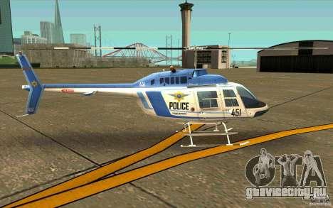 Bell 206 B Police texture1 для GTA San Andreas вид сзади слева