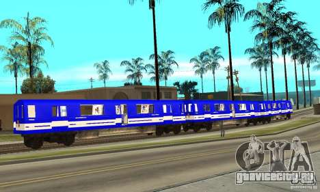 Liberty City Train Sonic для GTA San Andreas вид слева