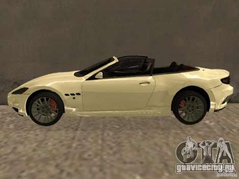 Maserati GranCabrio 2011 для GTA San Andreas вид слева