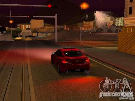 Hyundai Genesis Coupé 3.8 Track V1.0 для GTA San Andreas двигатель