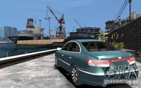 Hyundai Azera 2008 для GTA 4 вид сзади слева