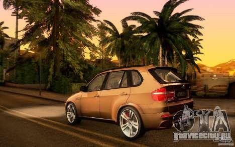 BMW X5M  2011 для GTA San Andreas вид изнутри