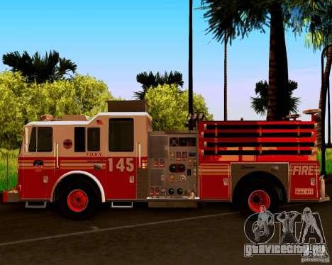 Pumper Seagrave Marauder F.D.N.Y для GTA San Andreas вид сзади