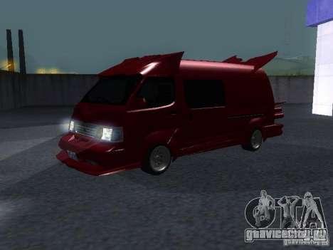 Toyota Hiace Vanning для GTA San Andreas вид слева