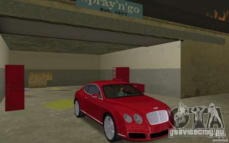Bentley Continental GT (Final) для GTA Vice City вид сзади