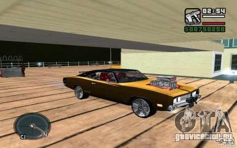 Dodge Charger R/T 1969 для GTA San Andreas вид сзади