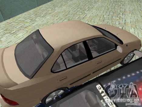 Nissan Sentra для GTA San Andreas вид изнутри