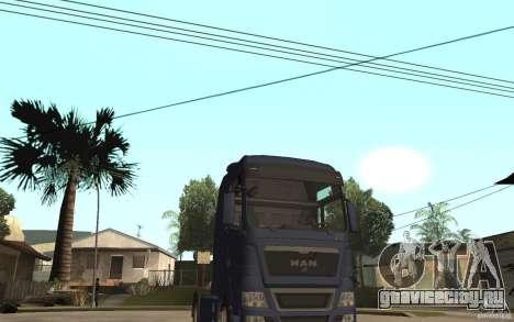 MAN TGX V8 для GTA San Andreas вид сзади