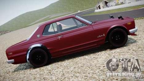 Nissan Skyline 2000 GT-R для GTA 4 вид снизу