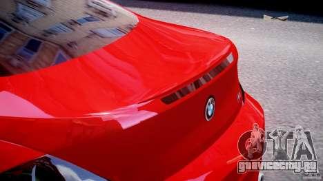 BMW M6 Orange-Black Bullet для GTA 4 вид снизу
