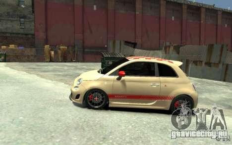 Fiat 500 Abarth Esseesse V1.0 для GTA 4 вид слева