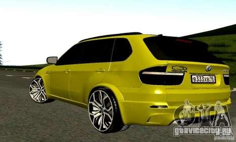 BMW X5М Gold для GTA San Andreas вид справа