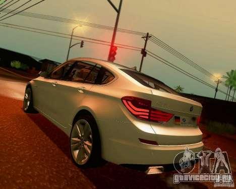 BMW 550i GranTurismo 2009 V1.0 для GTA San Andreas вид сзади слева