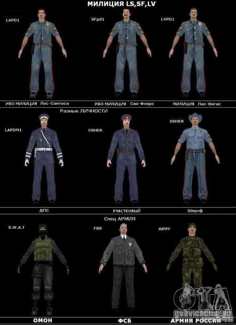 Русские службы безопасности для GTA San Andreas