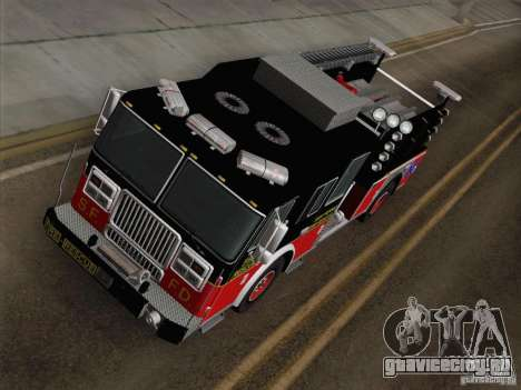 Seagrave Marauder Engine SFFD для GTA San Andreas вид сзади