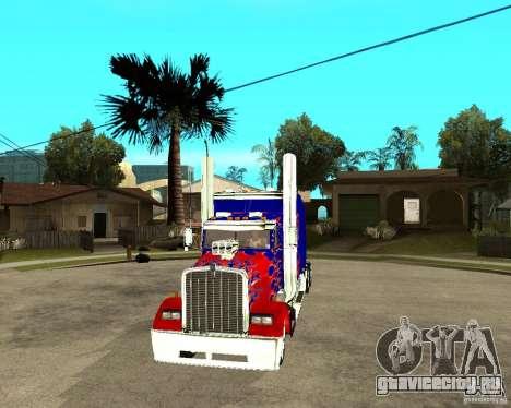 Truck Optimus Prime для GTA San Andreas вид сзади
