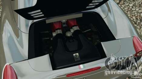 Ferrari 458 Spider 2013 v1.01 для GTA 4 вид сбоку