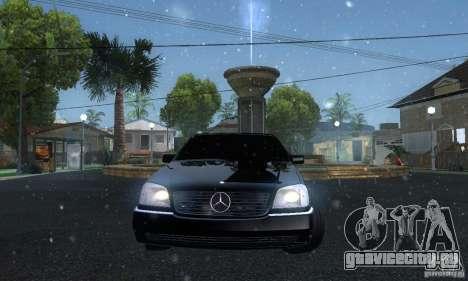 Mercedes-Benz 600SEC для GTA San Andreas вид сзади
