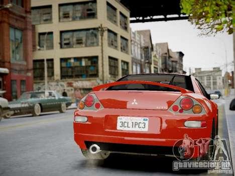 Mitsubishi Eclipse GT-S v1.0 для GTA 4 вид изнутри