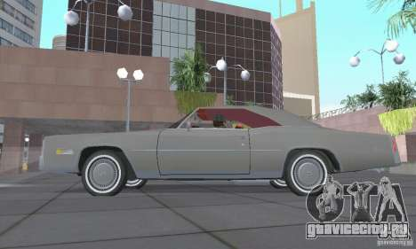 Cadillac Eldorado Convertible 1976 для GTA San Andreas вид сзади