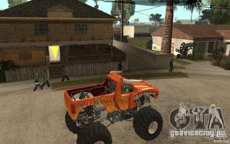 El Toro Loco для GTA San Andreas вид справа