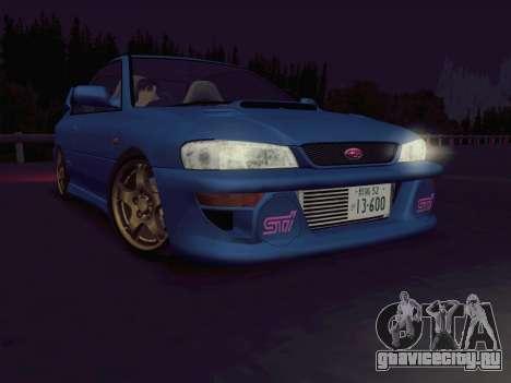 Subaru Impreza WRX GC8 InitialD для GTA San Andreas вид слева