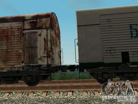 Рефрежираторный вагон Дессау №5 Балтинвест для GTA San Andreas вид сзади
