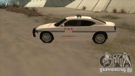 Dodge Charger PNP SAN FIERRO для GTA San Andreas вид слева