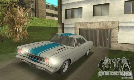 Plymouth Roadrunner 383 для GTA San Andreas вид сзади