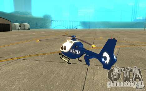 NYPD Eurocopter By SgtMartin_Riggs для GTA San Andreas вид справа