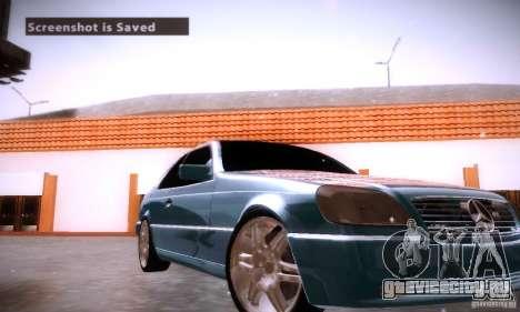 Mercedes-Benz 600SEC для GTA San Andreas вид сверху
