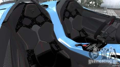 Lamborghini Aventador J 2012 v1.2 для GTA 4 вид изнутри