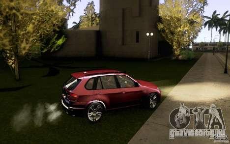 BMW X5M  2011 для GTA San Andreas вид сверху