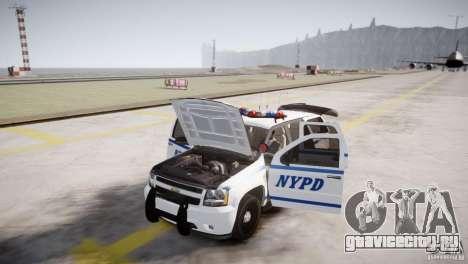 Chevrolet Tahoe 2012 NYPD для GTA 4 вид изнутри