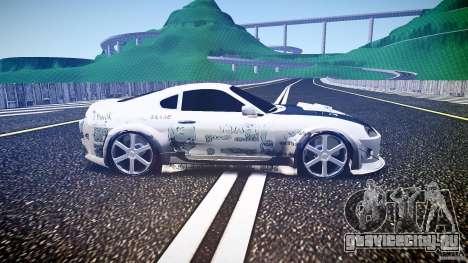 Toyota Supra ProStreet Style для GTA 4 вид изнутри