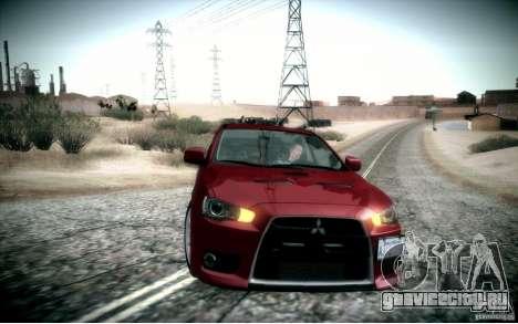 Mitsubishi Lancer Evolution X для GTA San Andreas вид справа