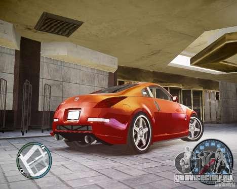 Nissan 350Z Z33 для GTA 4 вид сзади слева
