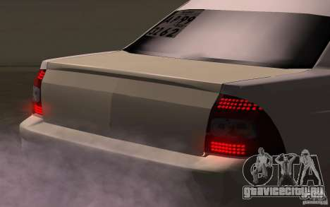 ВАЗ Лада Приора для GTA San Andreas вид сзади