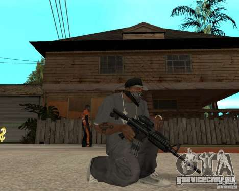 Очень качественная м16 для GTA San Andreas второй скриншот