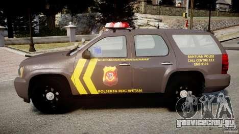 Chevrolet Tahoe Indonesia Police для GTA 4 вид слева